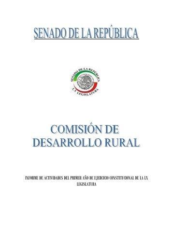 INFORME DE ACTIVIDADES DEL PRIMER AÑO ... - InfoRural.com.mx