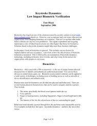 Keystroke Dynamics: - Infosecwriters.com