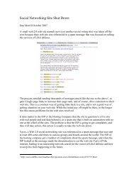 Social Networking Site Shut Down - Infosecwriters.com