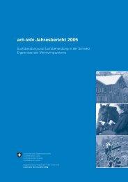 act-info Jahresbericht 2005 - Infoset