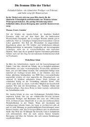 Die fromme Elite in der Türkei I NZZ 1.9.2011 - Infosperber