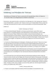 Erklärung von Prinzipien der Toleranz - Infosperber