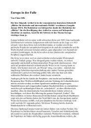 Europa in der Falle, von Claus Offe, als PDF - Infosperber