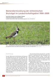 Bestandsentwicklung der einheimischen Brutvögel im ...