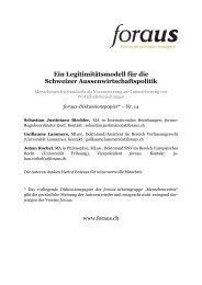 Ein Legitimitätsmodell für die Schweizer ... - Infosperber
