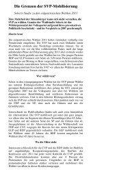 Die NZZ zur Selects-Studie von Fors - Infosperber