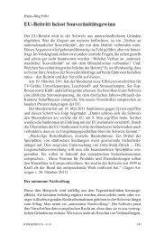 Hans-Jürg Fehr: EU-Beitritt heisst Souveränitätsgewinn - Infosperber