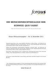 foraus Diskussionspapier Menschenrechtsdialoge - Infosperber