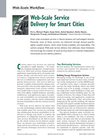 Web-Scale Service Delivery for Smart Cities - Distributed Systems ...