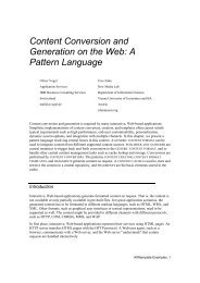 Content Conversion and Generation on the Web - the Publication ...