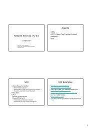 Network Services, VU 2.0 Agenda URI URI Examples - Distributed ...