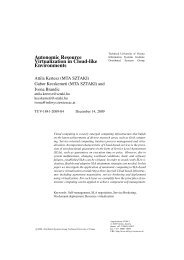 Autonomic Resource Virtualization in Cloud-like Environments