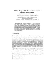 SOAF - Distributed Systems Group