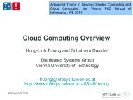 Service-oriented Computing - Distributed Systems Group
