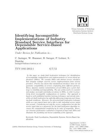 Identifying Incompatible Implementations of Industry Standard ...
