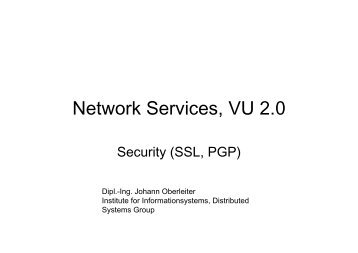 Network Services, VU 2.0 - Distributed Systems Group