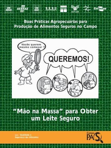 """""""Mão na Massa"""" para Obter um Leite Seguro - Infoteca-e - Embrapa"""