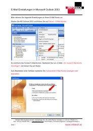 E-Mail Einstellungen in Microsoft Outlook 2003 www.infotech.at