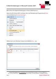 E-Mail Einstellungen in Microsoft Outlook 2007 www.infotech.at