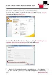E-Mail Einstellungen in Microsoft Outlook 2010 www.infotech.at
