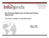 The Evolving Digital Color On Demand Printing ... - InfoTrends