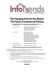 The Future of Commercial Printing - InfoTrends