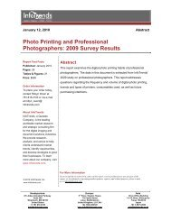 Photo Printing and Professional Photographers: 2009 ... - InfoTrends