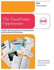 The TransPromo Opportunity - InfoTrends
