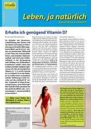 Ein ausführlicher, spannender Artikel über Vitamin D - Infovita