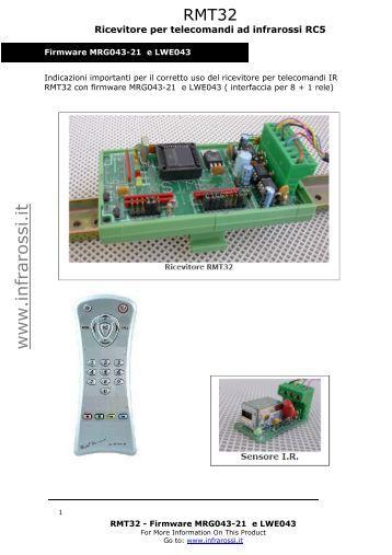 ZZ Z LQ IUDUR VVL LW - Telecomandi e controlli remoti ad infrarossi