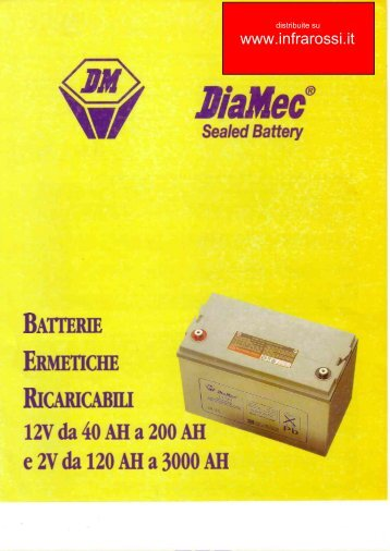 Catalogo Batterie Piombo UPS DiaMec Ultra
