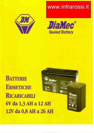 Catalogo Batterie Piombo DiaMec Antifurti Sirene Micro Series