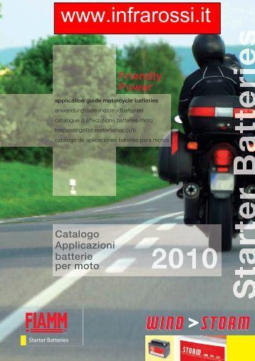 Catalogo Batterie Piombo Moto Fiamm 2010