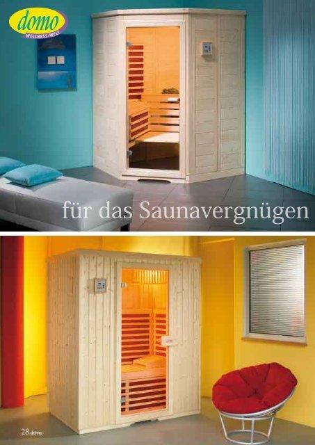 für das Saunavergnügen zu zweit