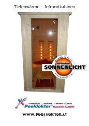 Tiefenwärme – Infrarotkabinen - Infrarotkabine - Sauna