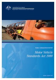 Public Consultation Report Motor Vehicle Standards Act 1989