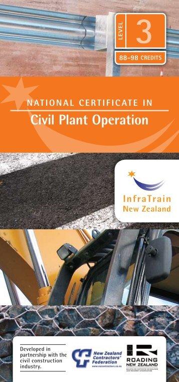 Civil Plant operation - InfraTrain New Zealand