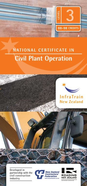 Civil Plant operation - InfraTrain New Zealand