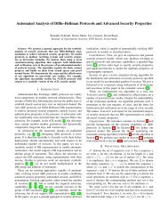 Automated Analysis of Diffie-Hellman Protocols and Advanced ...