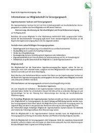 Informationen zur Mitgliedschaft im Versorgungswerk
