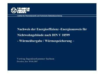Nachweis der Energieeffizienz - Ingenieurkammer Sachsen