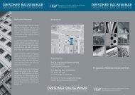 1 - DD Bauseminar Flyer WS 2011 - Hochschule für Technik und ...