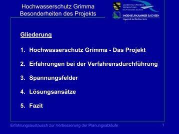 Hochwasserschutz Grimma Besonderheiten des Projekts 1 ...