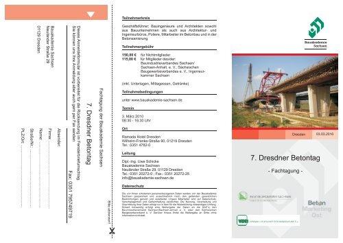 Einladung Betontag 2010 - Ingenieurkammer Sachsen