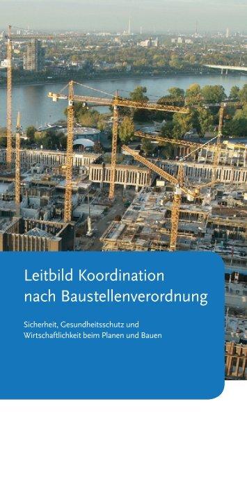 Leitbild Koordination nach Baustellenverordnung - RKW ...