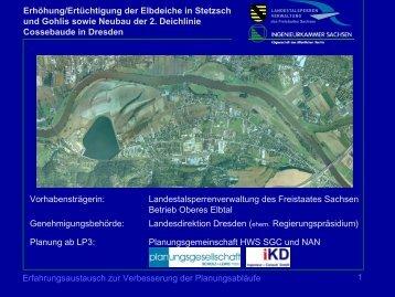 Erhöhung/Ertüchtigung der Elbdeiche in Stetzsch und Gohlis sowie
