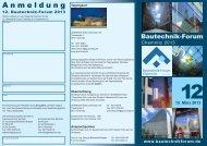 Programm - 12. Bautechnik-Forum Chemnitz 2013