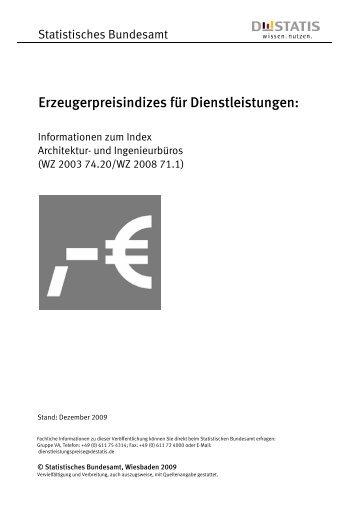 Informationen zum Index, Architektur- und Ingenieurbüros