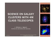science on galaxy clusters with 4m class telescopes - Instituto de ...