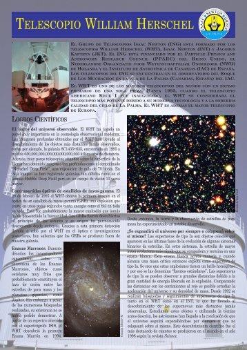 telescopio william herschel - Instituto de Astrofísica de Canarias
